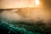 Sunrise Over the Falls (stylized)