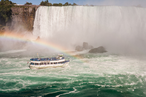Rainbow Over the Maid of the Mist