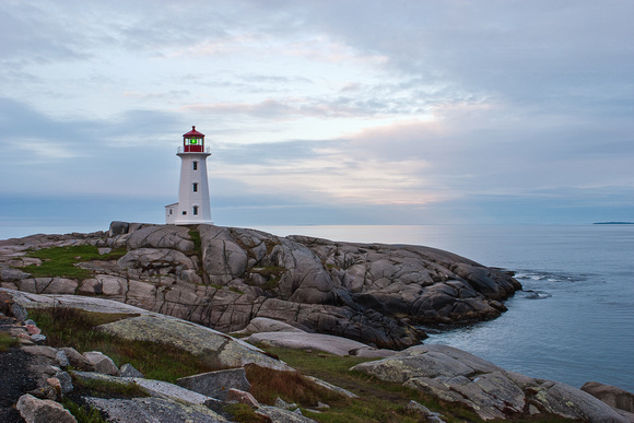 Light at Peggy's Cove, Nova Scotia